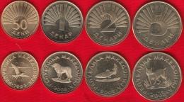 Macedonia Set Of 4 Coins: 50 Deni - 5 Denari 1993-2008 UNC - Macedonië