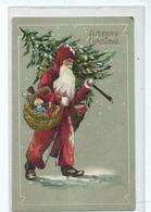 Christmas Postcard Santa  With Tree Posted Gloucester 1907 Dec 23 No517 - Santa Claus