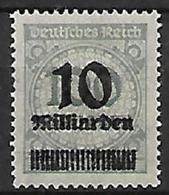 GERMANIA REICH REP.DI WEIMAR 1923 SERIE DEI MILIONI SOPRASTAMPATI CON NUOVO VALORE UNIF. 316 MNH XF - Germania