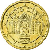 Autriche, 20 Euro Cent, 2005, SPL, Laiton, KM:3086 - Autriche
