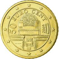 Autriche, 50 Euro Cent, 2005, SPL, Laiton, KM:3087 - Autriche