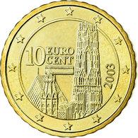 Autriche, 10 Euro Cent, 2003, SPL, Laiton, KM:3085 - Autriche