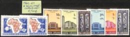 D - [825224]TB//**/Mnh-Ruanda-Urundi 1960-61 - 2 Séries Complètes, Eglises Et Cathédrale, SNC - Ruanda-Urundi