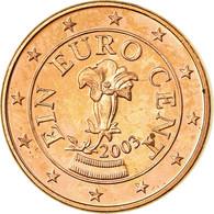 Autriche, Euro Cent, 2003, SPL, Copper Plated Steel, KM:3082 - Autriche