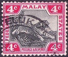 MALAYA 1900 4 Cents Black & Carmine SG17 Used - Malayan Postal Union