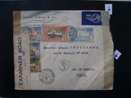 GUADALUPE / GUADELOUPE  - RARE LETTER SENT FROM POINTE A PITRE TO BRAZIL OPENED BY CENSOR IN 1941 IN THE STATE - Guadeloupe (1884-1947)
