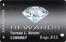 CasaBlanca & Virgin River Casinos - Mesequite, NV - Diamond Level Slot Card - Casino Cards