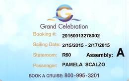Grand Celebration - Cruise Ship Card - Cartes D'hotel