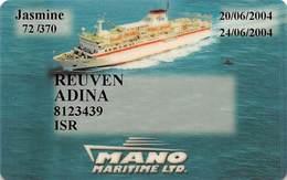 Mano Maritime - Cruise Ship Card - Cartes D'hotel