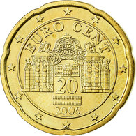 Autriche, 20 Euro Cent, 2006, SPL, Laiton, KM:3086 - Autriche