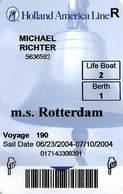 Holland America - Cruise Ship Card - Cartes D'hotel