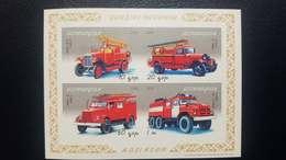 O) 2006 AZERBAIJAN, PROOF, FIRE TRUCKS - OLD CAR - AMO F-15 - PMQ 1 - PMQ 9 - ATS 2- SCT 842, MNH - Azerbaïjan