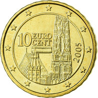 Autriche, 10 Euro Cent, 2005, SPL, Laiton, KM:3085 - Autriche