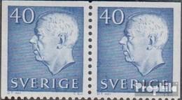 Schweden 522Elo/Ero Waagerechtes Paar Postfrisch 1964 Gustaf VI Adolf - Ungebraucht