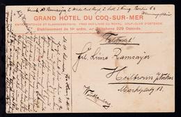 Feldpost-CAK Coq-sur-Mer Grand Hotel) Datiert De Haan 4. Nov. 14 Nach Heilbronn, - Unclassified