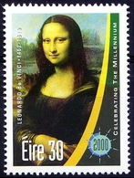 Ireland 2000 MNH, Millennium, Mona Lisa Painting By Leonard Da Vinci   ( - Art