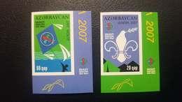 O) 2007 AZERBAIJAN, PROOF, EUROPA UNION, SCOUTING, SCOUT - KITE, DOVE - TENTS - SC 847 - SC 848, MNH - Azerbaïjan