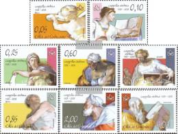 Vatikanstadt 1603-1610 (complete Issue) Unmounted Mint / Never Hinged 2008 Michelangelo-Frescoes - Unused Stamps