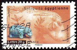 Oblitération Moderne Sur Autoadhésif De France N°  104 - Antiquité Romaine - Hippopotame De Faïence - Adhésifs (autocollants)