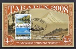 New Zealand 2008 TARAPEX Scenic Minisheet Used - Gebruikt