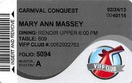 Carnival Cruises - Cruise Ship ID Card / Room Key - Cartes D'hotel