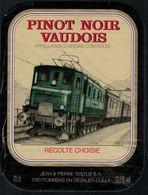 Etiquette De Vin // Pinot Noir Vaudois, Train Suisse - Trenes