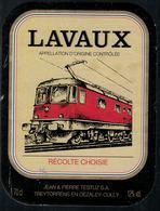 Etiquette De Vin // Lavaux, Train Suisse - Treni
