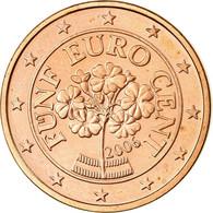 Autriche, 5 Euro Cent, 2006, SPL, Copper Plated Steel, KM:3084 - Autriche
