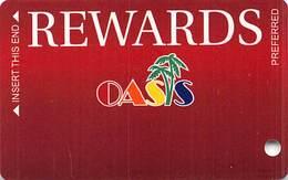 Oasis Casino Mesquite, NV - BLANK Slot Card - Casino Cards