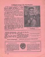 "WWII WW2 Flugblatt Leaflet Soviet Propaganda Against Germany ""Frontnachrichten"" Mai 1942 Nr. 199  CODE 1513 - 1939-45"