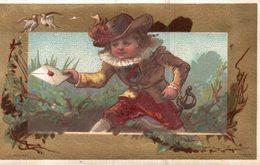 CHROMO A L'ANCIEN PIGEON EPOUSE ED. VAN ROOIJEN  ANVERS  LE PORTEUR DE PLIS - Trade Cards