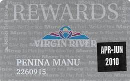 Virgin River Casino Mesquite NV - Slot Card - Platinum Rewards With Apr-Jun 2010 Sticker - Casino Cards