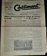 Très Rare Journal Châtiment Organe Association Nationale Des Victimes Du Nazisme N°2 Mars 1945 - 1939-45