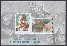 INDIA 2019  MS AHIMSA PARMO DHARMA, Philosophy Of GANDHI Peaceful Non-Violence, MINIATURE SHEET,  MNH(**) - India