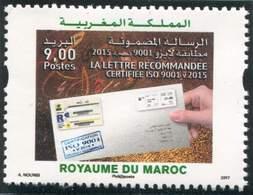 MOROCCO LA LETTRE RECOMMANDEE CERTIFIEE ISO 9001 2017 - Morocco (1956-...)