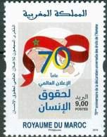 MOROCCO 70IEME ANNIVERSAIRE DECLARATION UNIVERSELLE DROITS DE L'HOMME 2018 - Morocco (1956-...)
