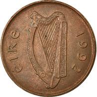 Monnaie, IRELAND REPUBLIC, 2 Pence, 1992, TB+, Copper Plated Steel, KM:21a - Irlande