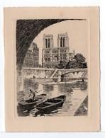 CPM - GRAVURE - NOTRE-DAME DE PARIS - Fine Arts