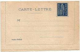 CARTE LETTRE MILITAIRE NEUVE MILITAIRE AVEC FUSIL EDITEUR SIMPLEX PARIS - Marcophilie (Lettres)