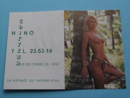 Coiffeur NINO Liège () 1991 (Femme Nude / Naakt / Naked) ( Zie/voir Photo Svp ) ! - Calendarios