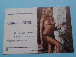Coiffeur NINO Liège () 1975 (Femme Nude / Naakt / Naked) ( Zie/voir Photo Svp ) ! - Kalender