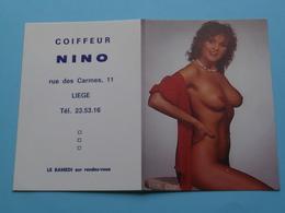 Coiffeur NINO Liège () 1988 (Femme Nude / Naakt / Naked) ( Zie/voir Photo Svp ) ! - Petit Format : 1981-90