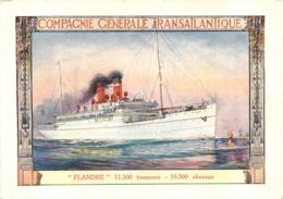 CIE GENERALE TRANSATLANTIQUE LE  FLANDRE - Piroscafi