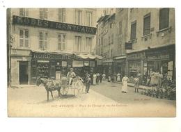 84 AVIGNON PLACE DU CHANGE RUE DES ORFEVRES DEVANTURES HORLOGERIE TABACS CONFISERIE ATTELAGE VAUCLUSE - Avignon