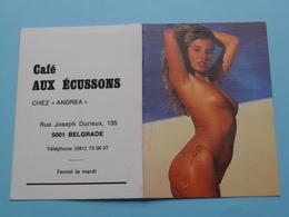 Café AUX ECUSSONS > 5001 Belgrade () 1988 (Femme Nude / Naakt / Naked) ( Zie/voir Photo Svp ) ! - Petit Format : 1981-90