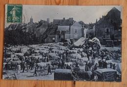 89 : Vézelay - Un Jour De Foire - Animée : Belle Animation  -Marché Aux Bestiaux - Vaches / Boeufs - (n°15214) - Vezelay