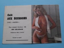 Café AUX ECUSSONS Chez Andrea > 5001 Belgrade () 1988 (Femme Nude / Naakt / Naked) ( Zie/voir Photo Svp ) ! - Petit Format : 1981-90