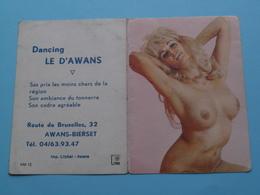 Dancing LE D'AWANS Awans-Bierset 1974 (Femme Nude / Naakt / Naked) ( Zie/voir Photo Svp ) ! - Calendriers