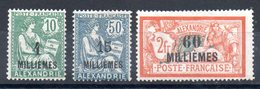 ALEXANDRIE - YT N° 61 à 63 - Neufs * - MH - Cote: 21,00 € - Alexandria (1899-1931)