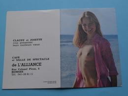 Café Et Salle De Spectacle De L'ALLIANCE > ROMSEE - 1982 (Femme Nude / Naakt / Naked) ( Zie/voir Photo Svp ) ! - Petit Format : 1981-90